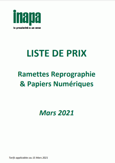 Catalogue Additif 2021