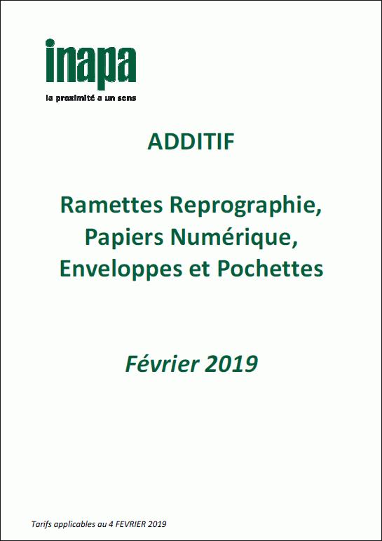 Catalogue Additif 2019